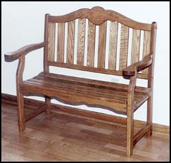 Heirloom quality wood benches