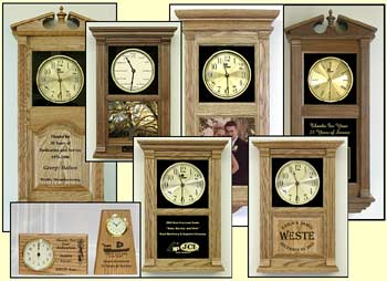Custom Personalized Clock Laser Etched Clocks