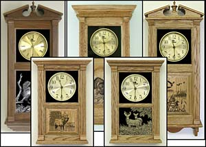 Wildlife Clocks and Custom Engraved Clocks