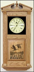 Wood Panel Canadian Geese Clock