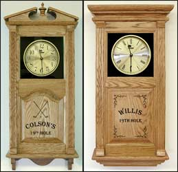 Personalized Golfing Clock and Custom Golfer Clock