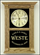 Etched Anniversary Clocks