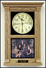 personalized family photo clock