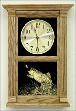 oak wall clocks and laser etched clocks