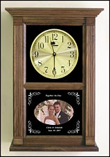 photo etched wedding clock