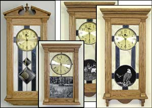 Unique Wall Clocks, stained glass wall clock, clocks with  wildlife