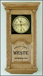 custom laser etched clocks