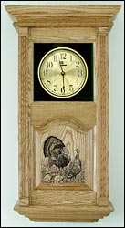 clock with turkey image