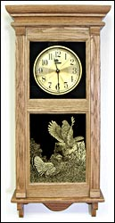 ruffed grouse picture clock