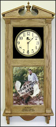 personalized photo clock and logo etched clocks
