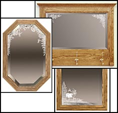 etched mirrors, etched mirror