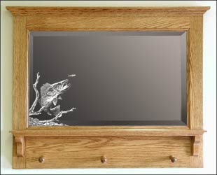 Fishing Themed Mirrors Etched Fisherman Mirror