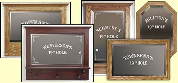 etched golf themed mirror custom etched mirror personalized