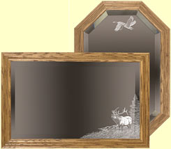 Hunting Themed Mirrors Etched Hunter S Mirror Gifts Ideas For Hunters