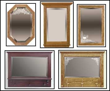 hall mirrors, framed mirrors