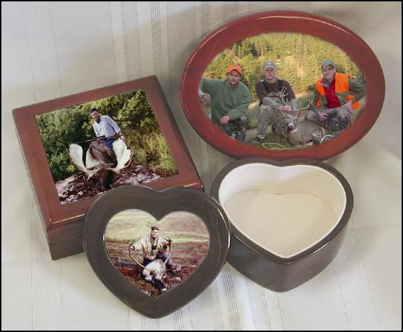 Hunting and fishing keepsake boxes custom hunting and for Hunting and fishing gifts