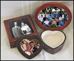 photo jewelry boxes, personalized keepsake box