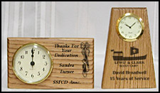 oak desk clocks