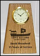 Custom Clocks, awards clock, personalized wooden clocks
