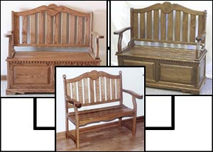 deacons bench, wooden benches, storage benches, oak benches