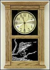 Etched Fisherman Clock