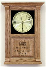 Etched Awards Clock and Retiree Service Awards Clock