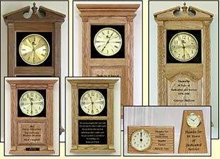 Message clocks, custom awards clock, personalized clocks