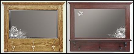 Full Length Mirror Cherry Frame